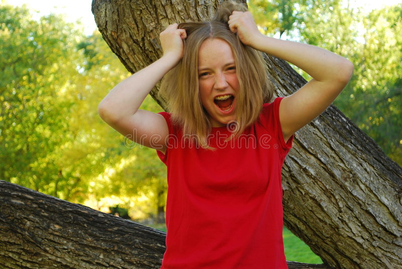 Download Yelling teen stock photo. Image of nature, yelling, tree - 6769672