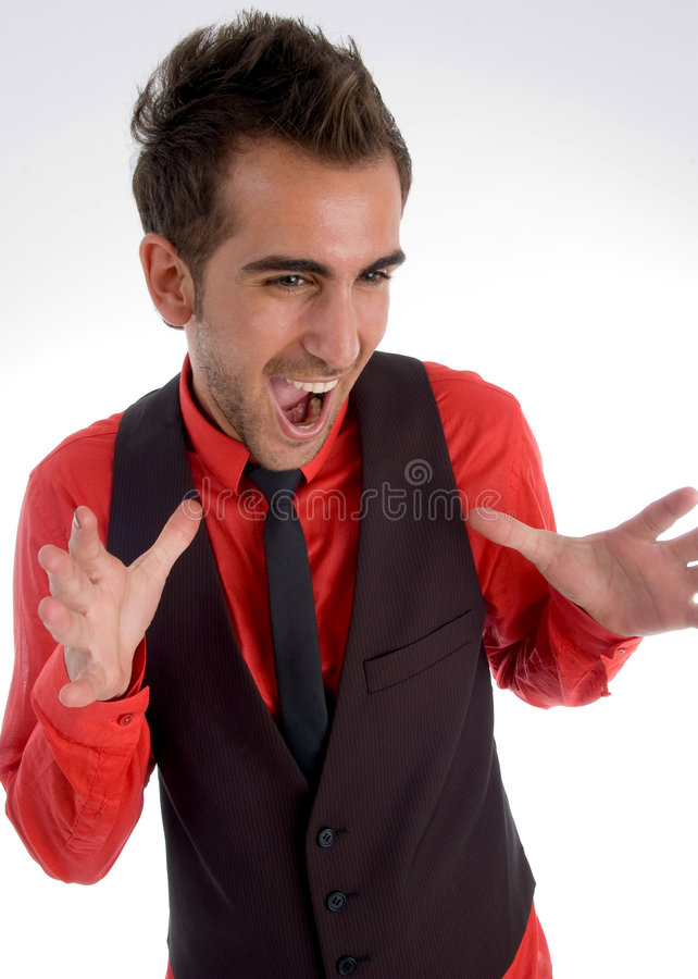 Yelling Young Handsome Male Stock Photos