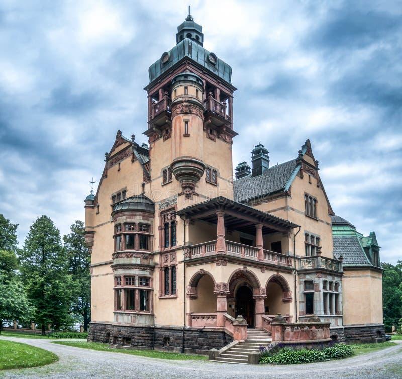 斯德哥尔摩,瑞典老城堡主要门面  库存照片