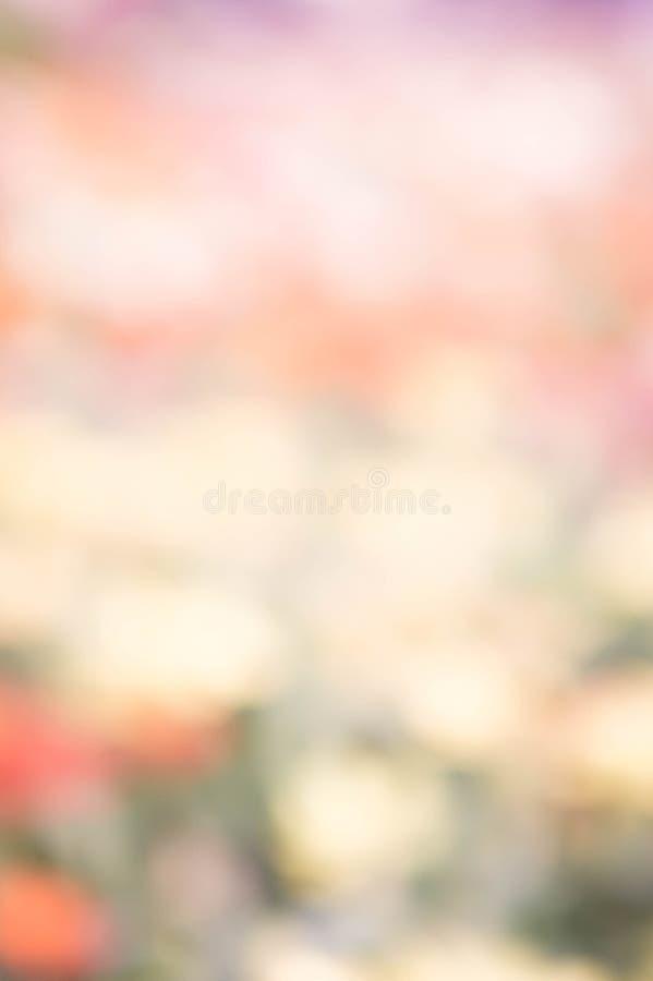 Yello coloré de vert de rose de couleur de fond de tache floue de nature abstraite images libres de droits