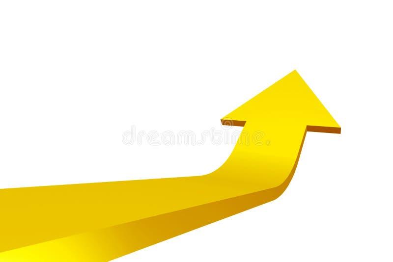 Yellow 3D arrow stock illustration