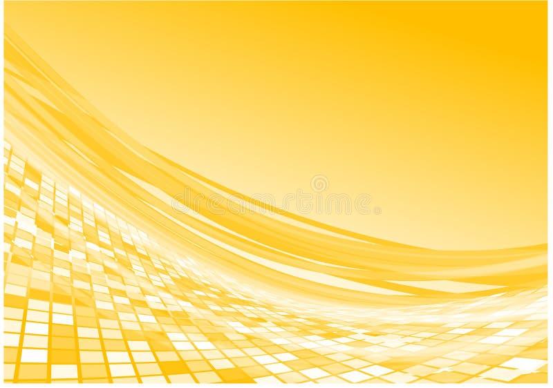 Yellow 3d flow vector stock illustration