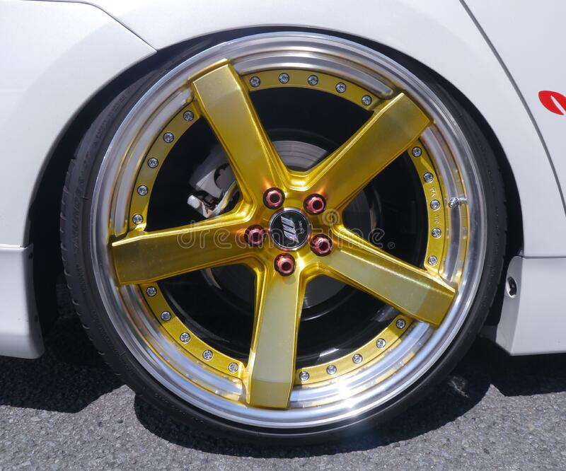Yellow 5 Spoke Car Wheel Free Public Domain Cc0 Image
