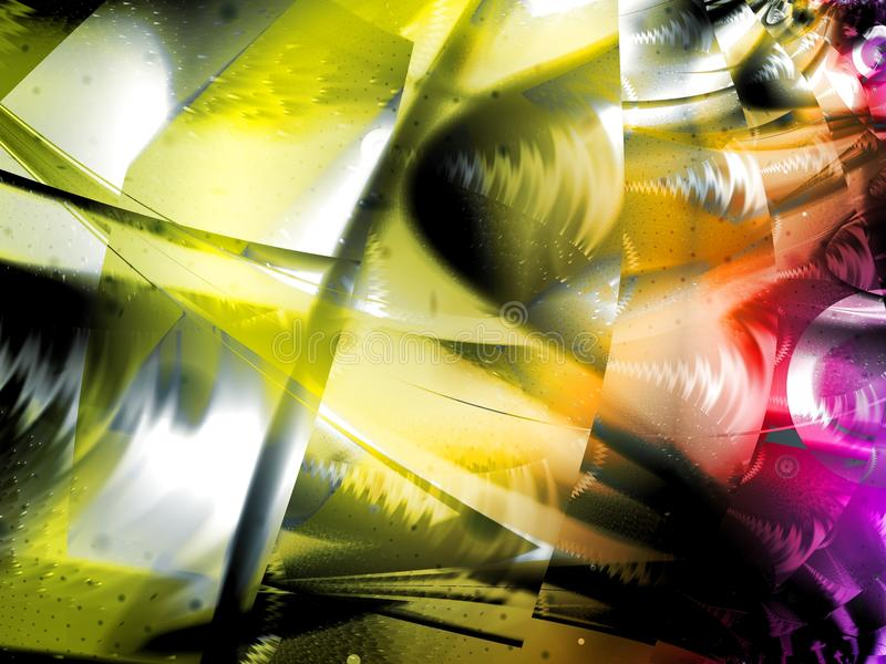 Yellow Abstract Art Design stock photography