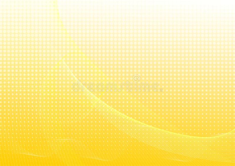 Yellow abstract background with waves vector illustration