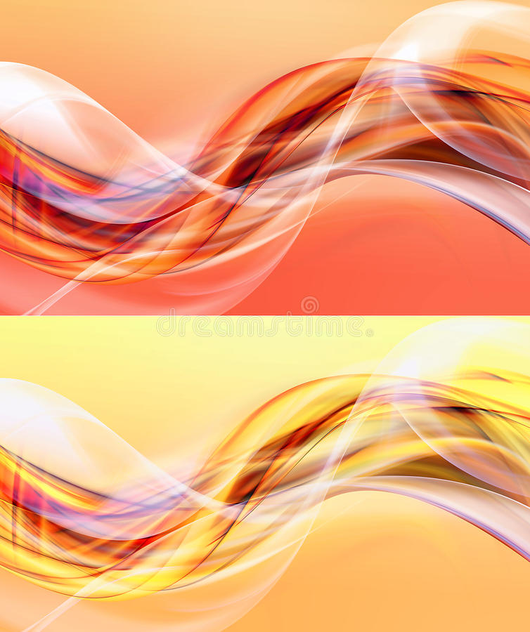 Yellow And Orange Abstract Backgrounds Stock Illustration