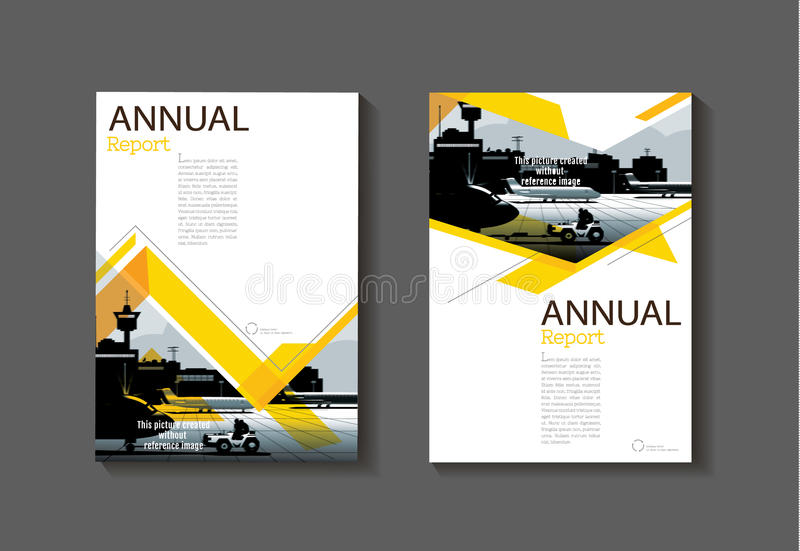 Yellow Abstract Cover Modern Cover Book Brochure Template Desi