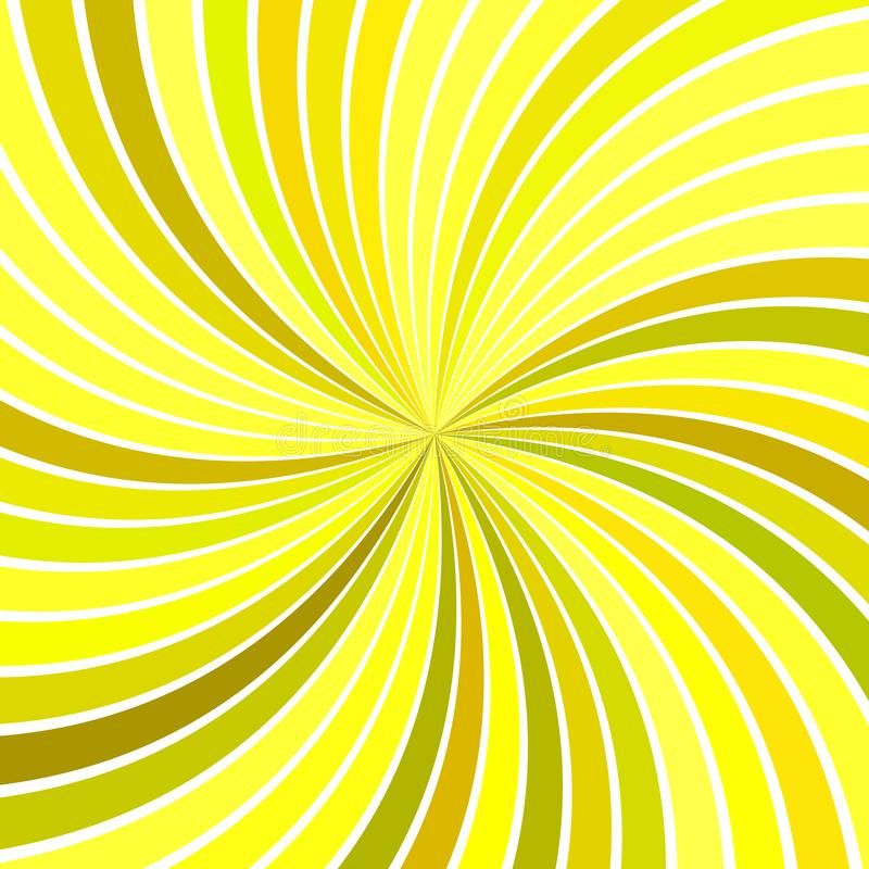 Yellow abstract psychedelic spiral burst stripe background. Vector graphic stock illustration