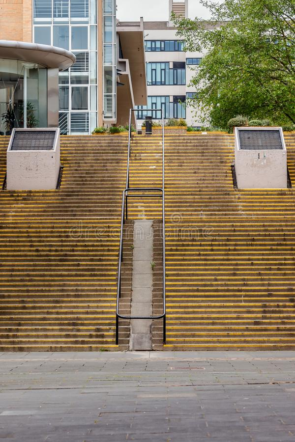 Yellow abstract steps stock photography