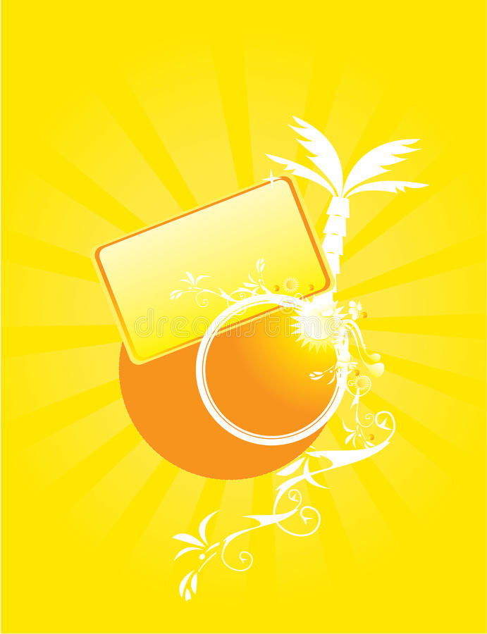 Yellow abstract sunny design royalty free illustration