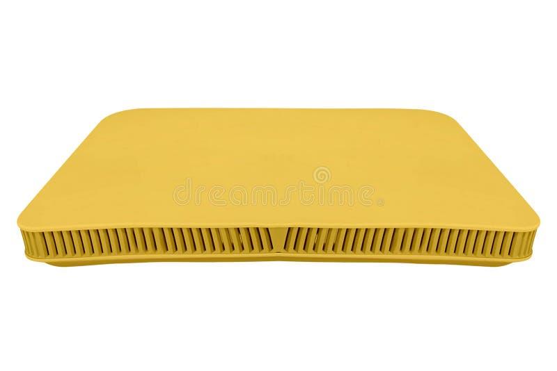 Yellow ADSL Modem Isolated On White. Background royalty free stock photography