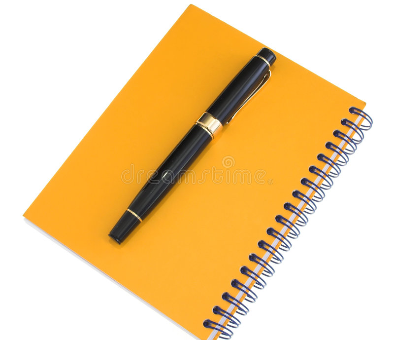 Download Yellow Agenda And Pen Royalty Free Stock Photos - Image: 1707448