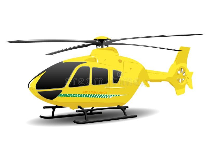 Yellow Air Ambulance Illustration. Over White royalty free illustration