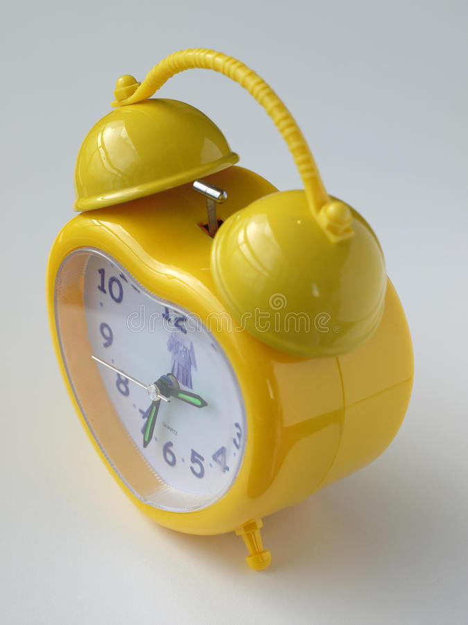 Download Yellow alarm clock stock photo. Image of hour, deadline - 33307724