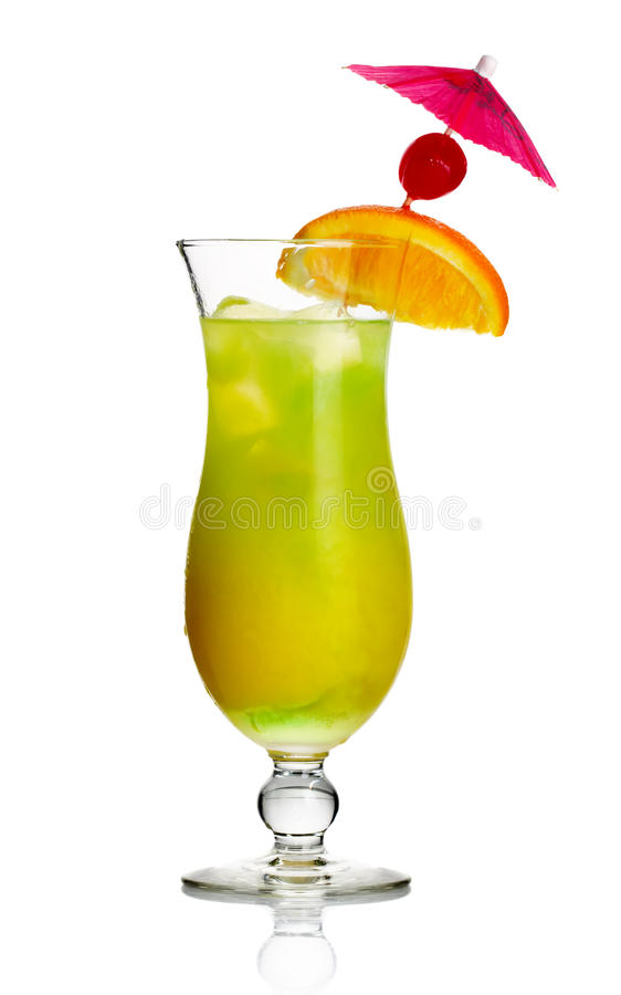 Download Yellow Alcohol Cocktail With Orange Slice Stock Image - Image of hard, green: 24923379