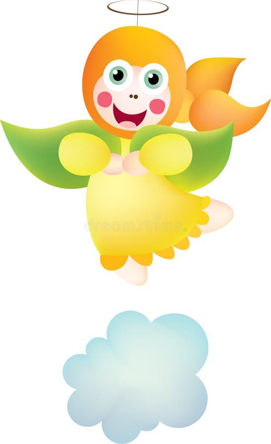 Yellow angel royalty free illustration