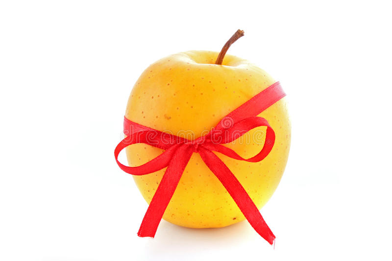Yellow apple stock images