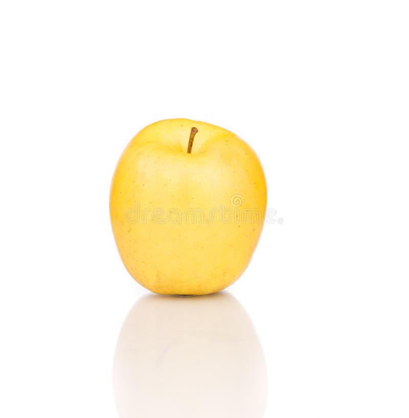 Download Yellow apple close up. stock image. Image of shape, isolated - 42774271