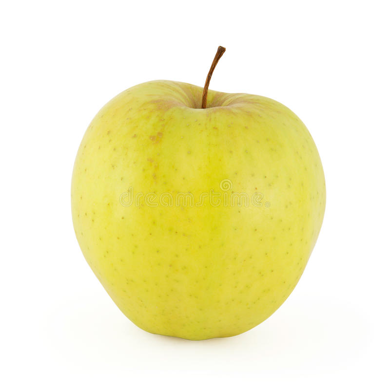 Yellow apple isolated on white. Background with clipping path stock photography