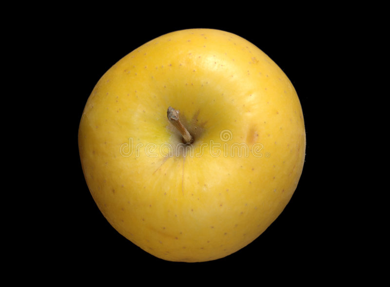 Download Yellow Apple Over Black Stock Photo - Image: 182830
