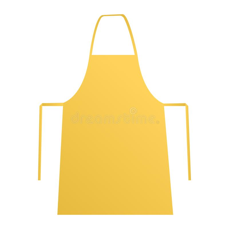 Yellow apron. Mockup isolated on white background. Vector illustration vector illustration