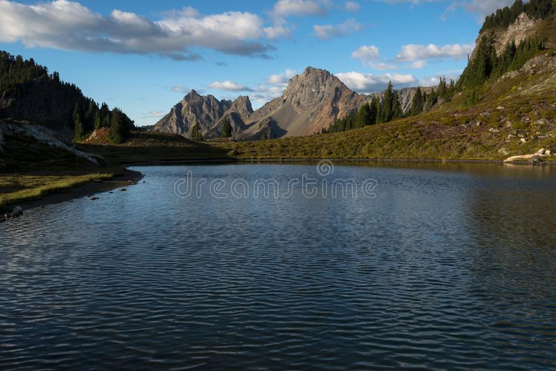 Pacific North West Hiking Landscape Mountains Background Night Sky stock photo