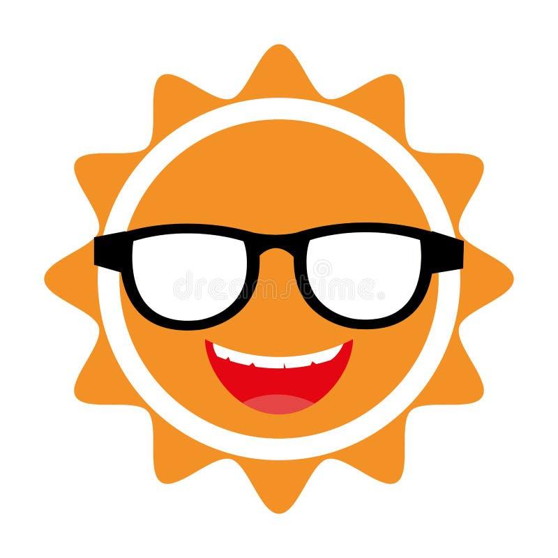 yellow avatar face sun vector graphic stock vector illustration rh dreamstime com sunglasses vector graphic sun vector graphic free