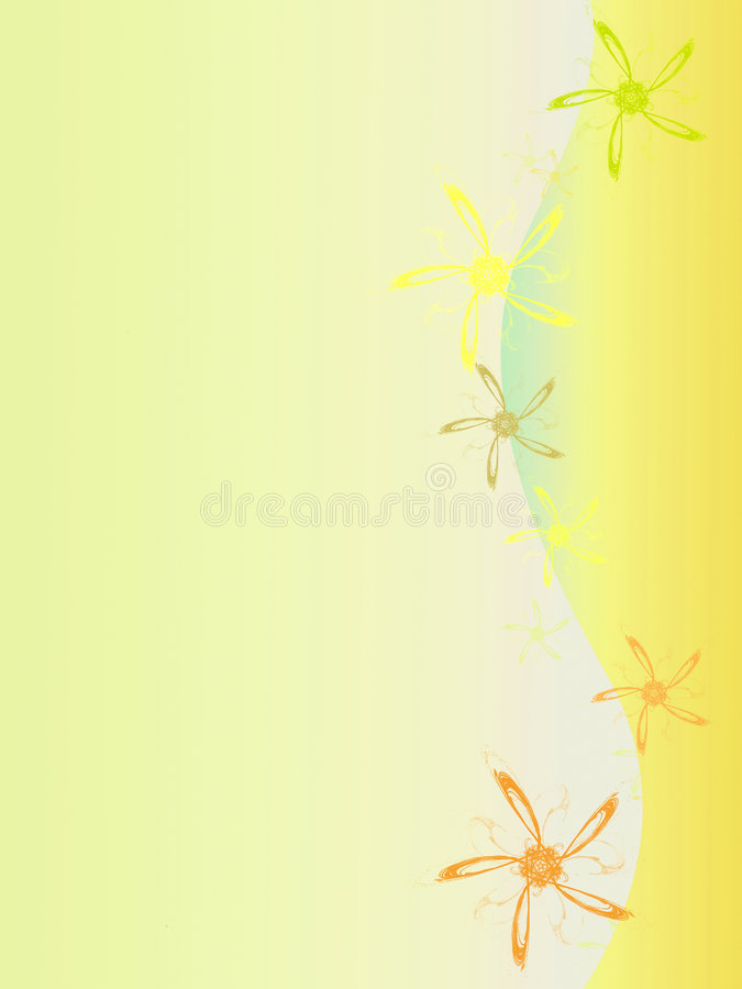 Yellow background stock illustration