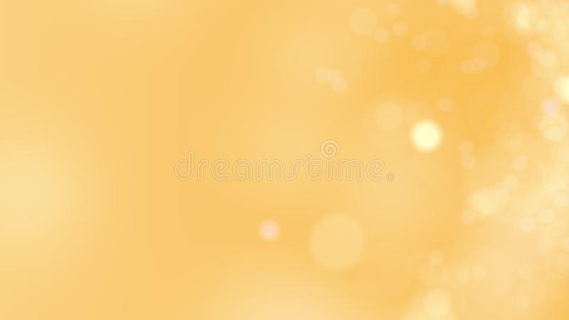 Yellow background. Abstract glowing bokeh circles or sparks. 3D rendering stock photography