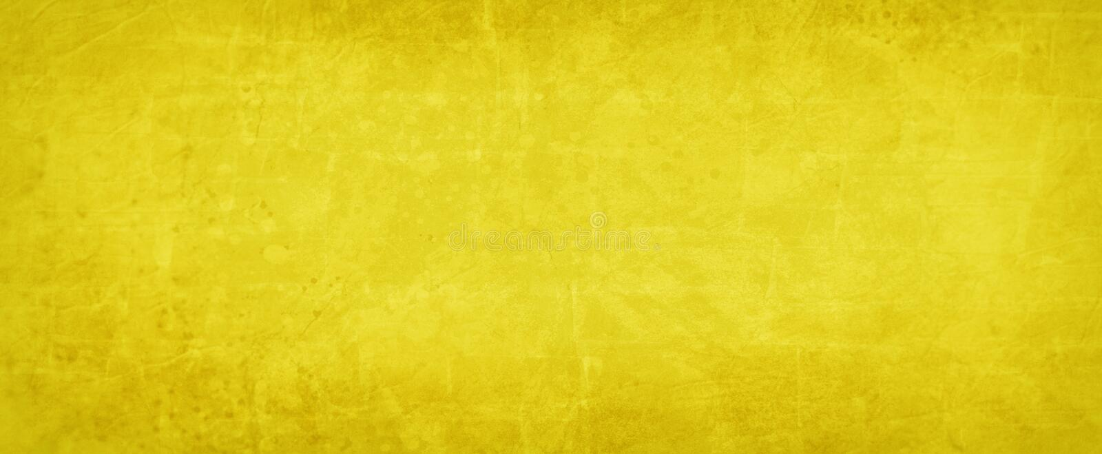 Yellow background texture, bright gold color with abstract vintage paint spatter texture with rock vector illustration