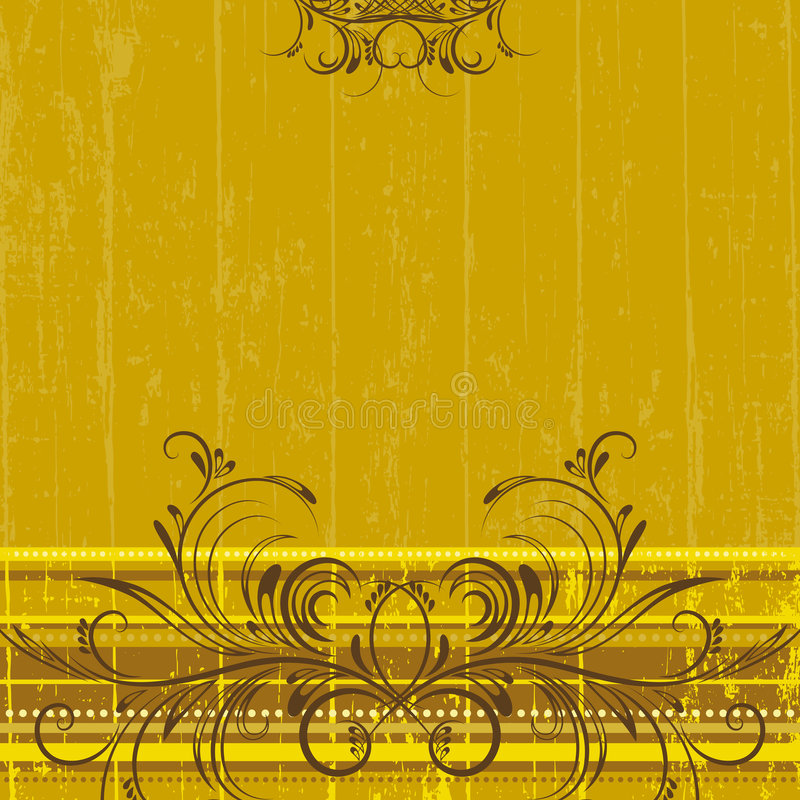Yellow background, vector royalty free illustration