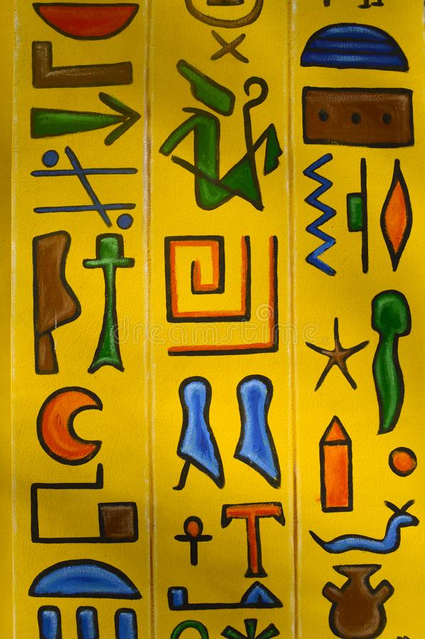 Free Yellow Background With Ancient Egyptian Drawings Royalty Free Stock Photo - 132377975