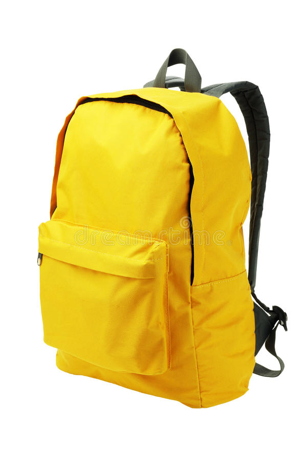 Free Yellow Backpack Royalty Free Stock Images - 27259489