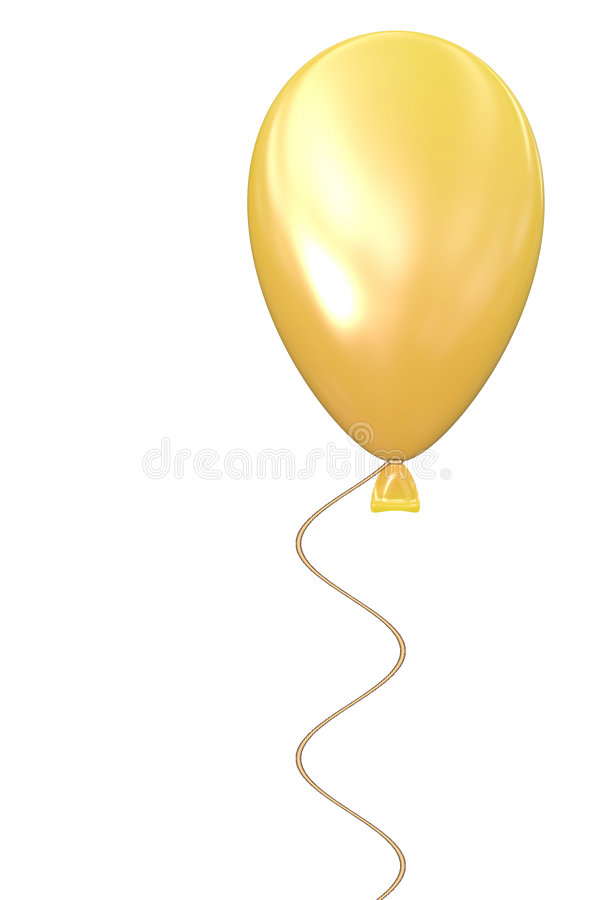 Download Yellow Balloon W White Background Stock Image - Image: 7806341