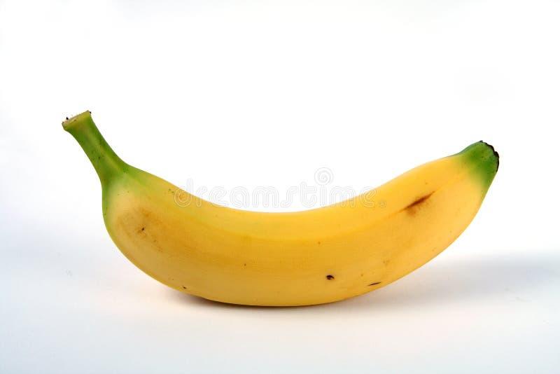 Yellow banana. On white background stock image