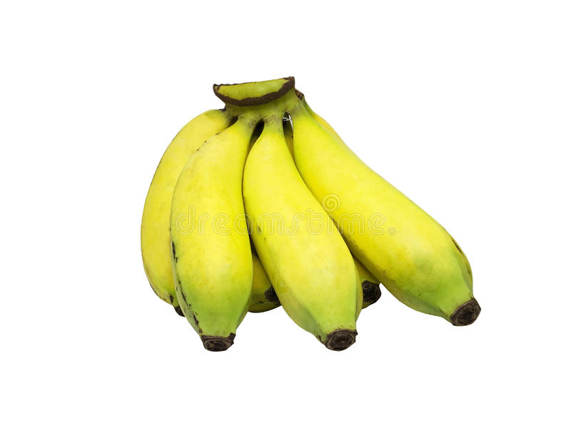 Yellow banana isolated on white background stock photo