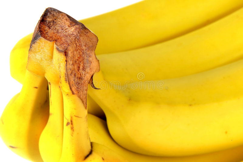 Yellow bananas stock image