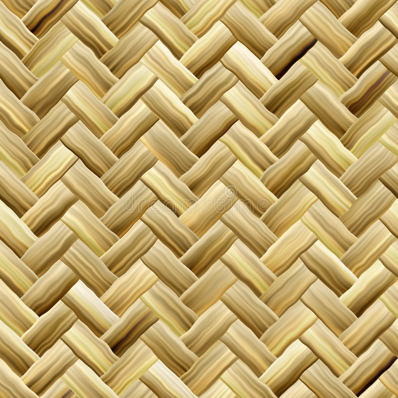 Yellow Basket Weave Royalty Free Stock Images