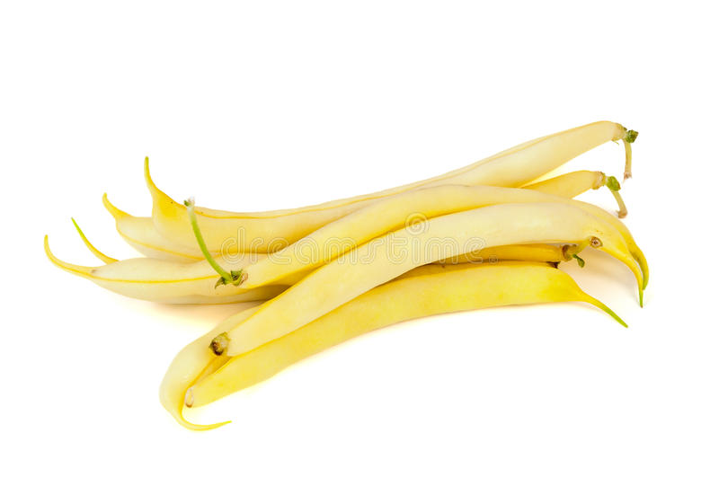 Yellow beans on white background royalty free stock image