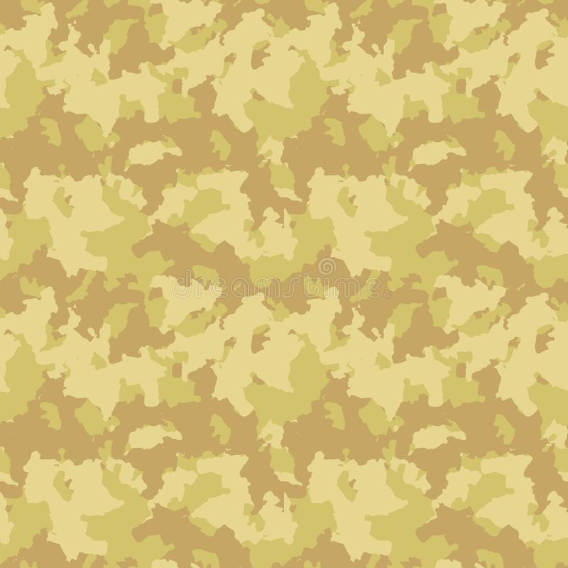 Yellow and beige desert camouflage royalty free illustration