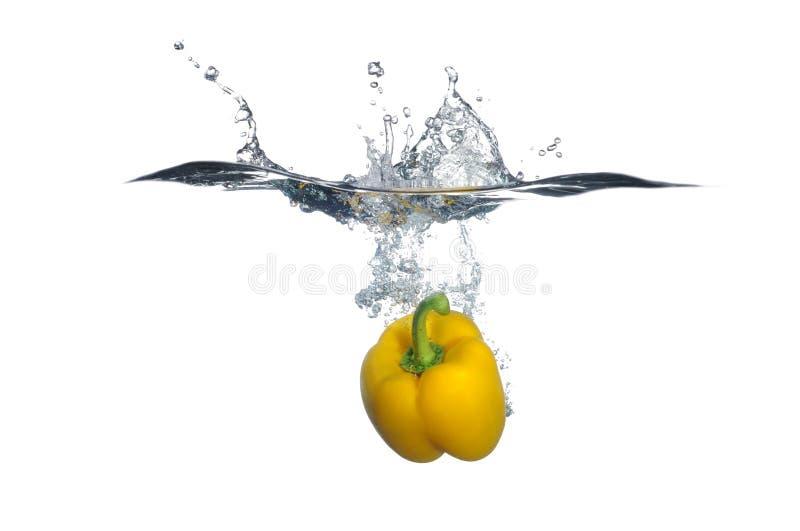 Yellow Bell Pepper Splash stock image