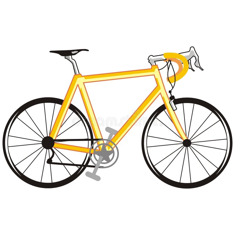Yellow bicycle vector illustration