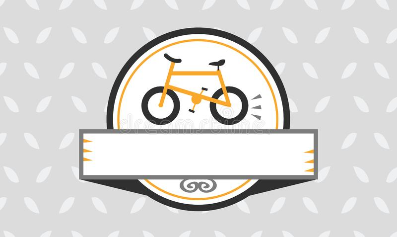 Bicycle Frame Isolated Badge stock illustration