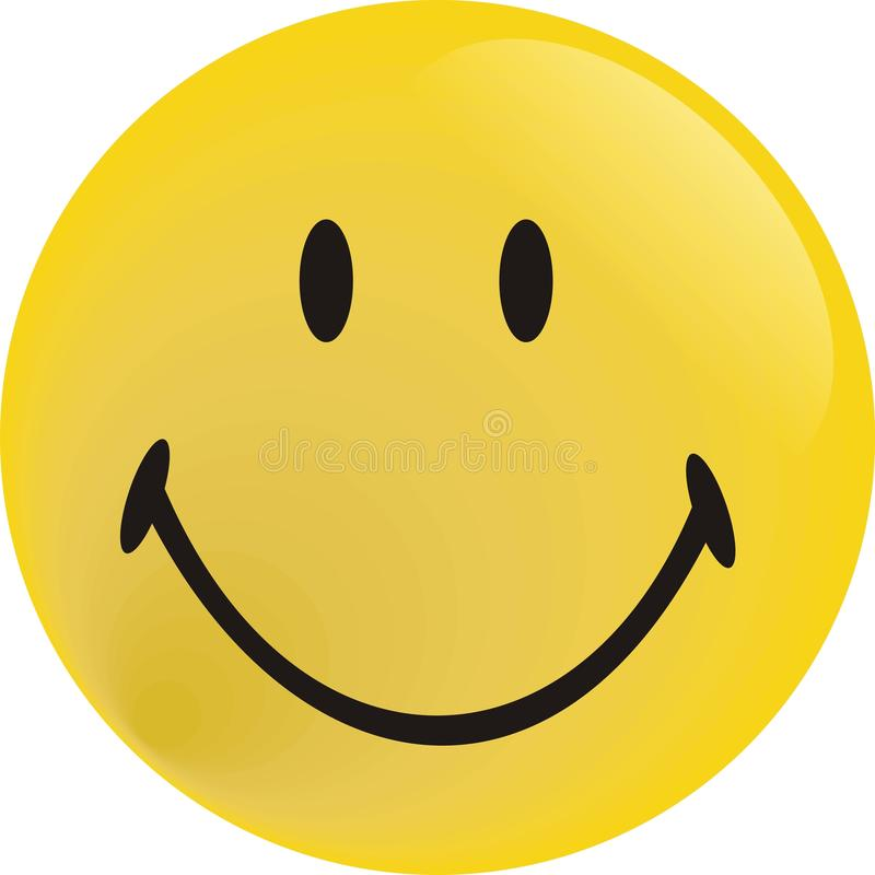 Yellow big picture smiling face stock images