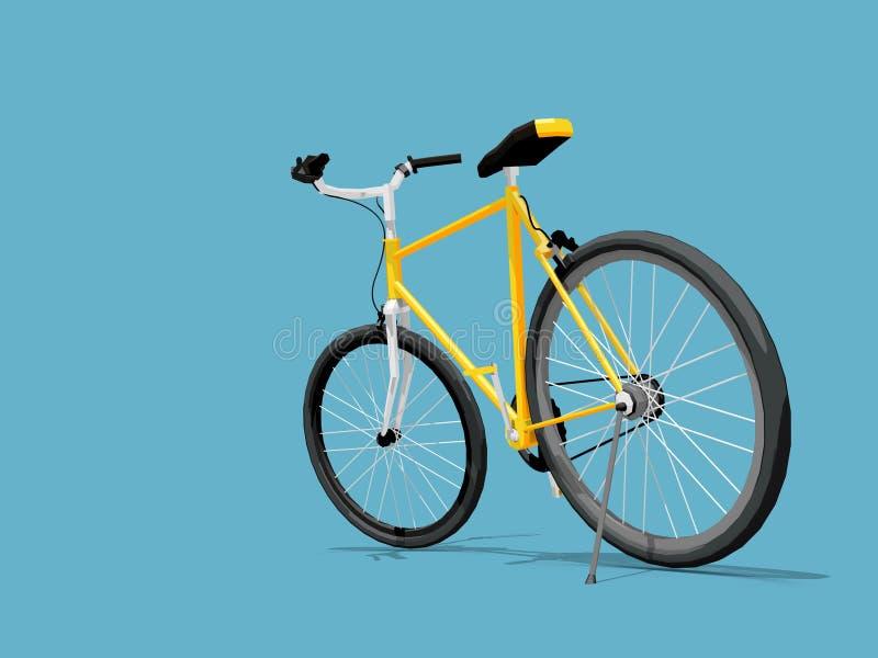 Download Yellow bike stock illustration. Image of cycle, bicycle - 42191526