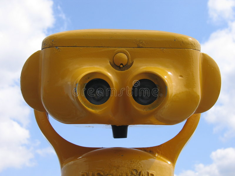 Yellow Binoculars II stock photo