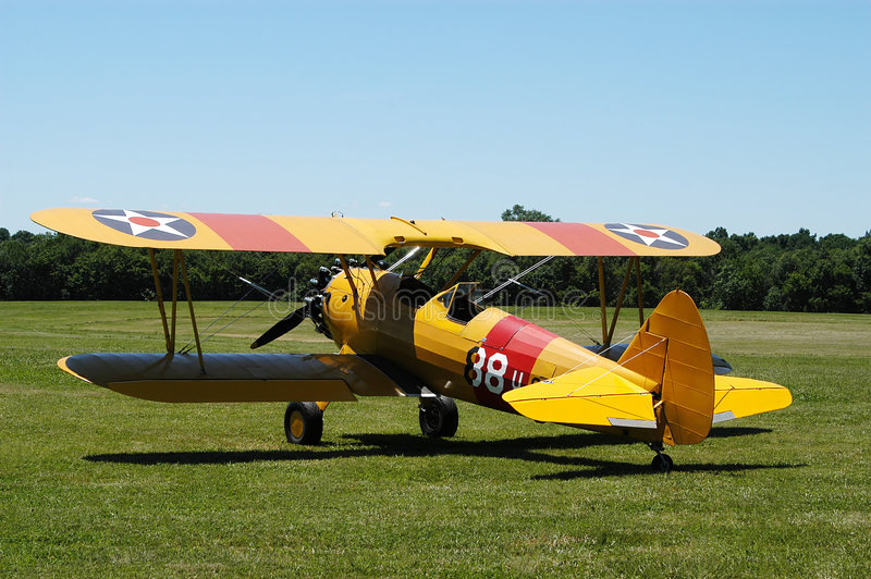 Download Yellow Biplane II editorial stock photo. Image of military - 10203