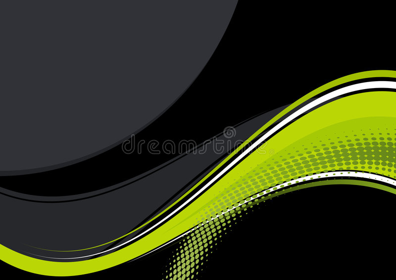 Yellow And Black Background Royalty Free Stock Image