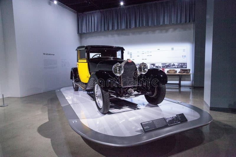 Yellow and black 1929 Bugatti Type 44 Fiacre royalty free stock photography