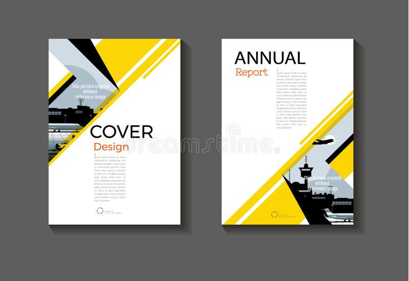 Yellow and black cover design modern book cover abstract Brochure cover template,annual report, magazine and flyer layout Vector royalty free illustration